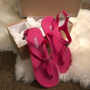 MICHAEL KORS jelly logo sandals